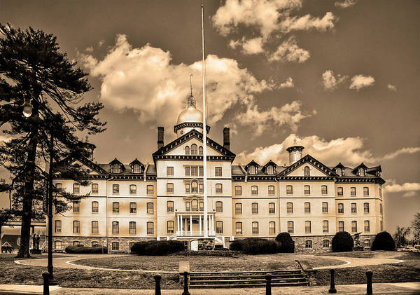 Photograph - Old Main - Widener University - Chester Pa In Sepia by Bill Cannon