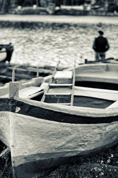 Photograph - Old Man And Boat by Silvia Ganora