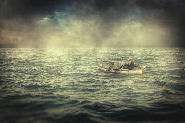 Surrealistic Photograph - Old Man And The Sea by Zapista Zapista