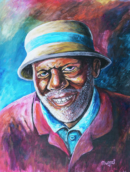 Confident Painting - Old Man by Anthony Mwangi