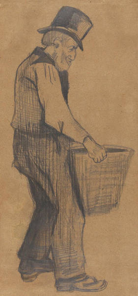 Full Metal Jacket Wall Art - Painting - Old Man Carrying A Bucket 1882 by Vincent Van Gogh