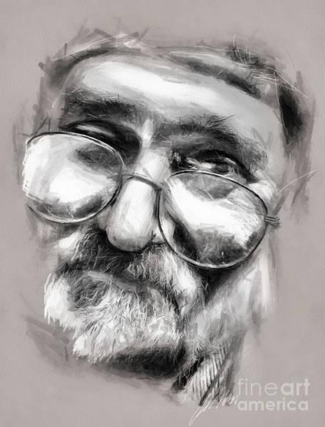 Drawing - Old Man Drawing by Daliana Pacuraru
