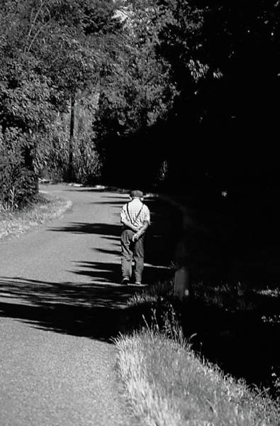 Photograph - Old Man On A Walk by Frank DiMarco