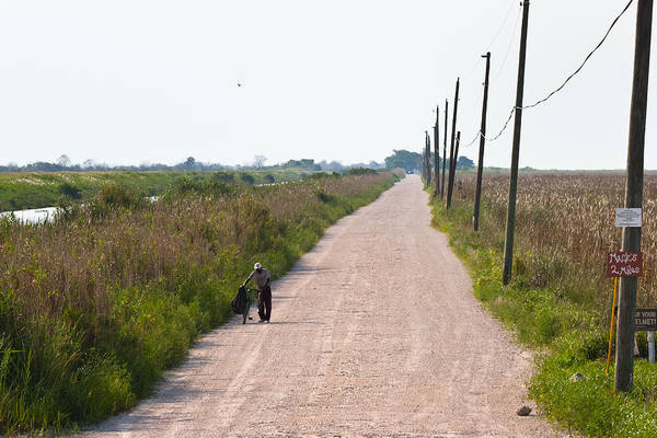 Photograph - Old Man On Country Road by Ed Gleichman