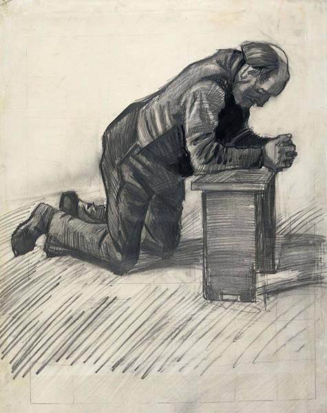 Drawing - Old Man Praying  by Vincent van Gogh