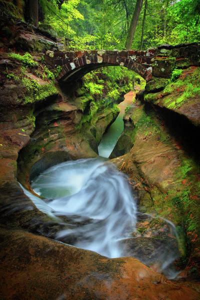 Hocking Hills Photograph - Devil's Bathtub by Emmanuel Panagiotakis