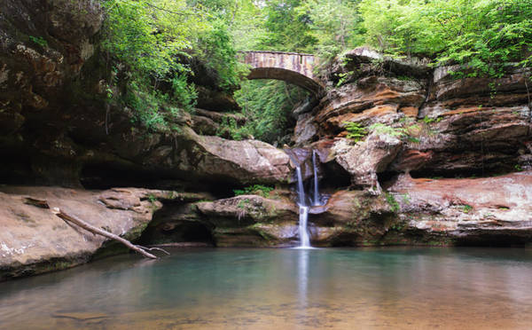 Photograph - Old Man's Cave Upper Falls 2 by Rachel Cohen
