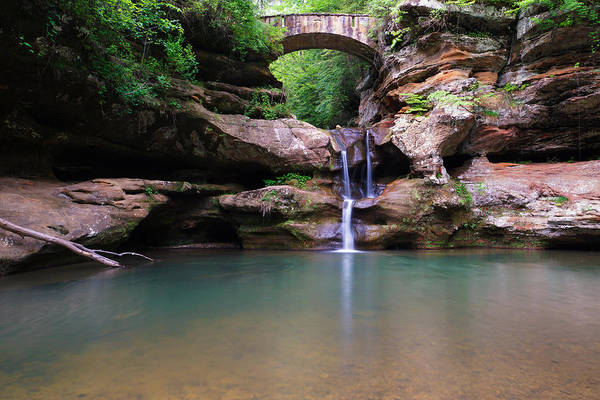 Photograph - Old Man's Cave Upper Falls by Rachel Cohen