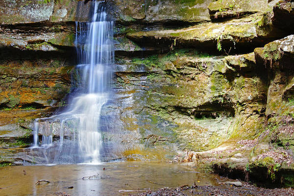 Photograph - Old Man's Cave Waterfall by Mike Murdock