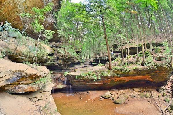 Photograph - Old Man's Gorge And Waterfall Hocking Hills Ohio by Lisa Wooten