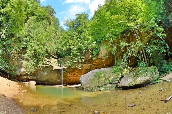 Photograph - Old Man's Gorge Upper Falls Hocking Hills Ohio by Lisa Wooten