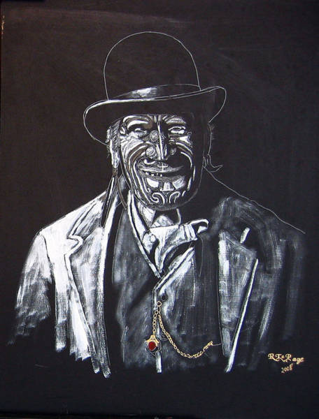 Painting - Old Maori Tane by Richard Le Page