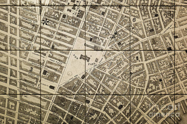 Photograph - Old Map Of New York City by M G Whittingham