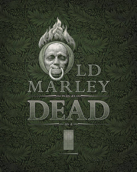 Drawing - Old Marley by Swann Smith