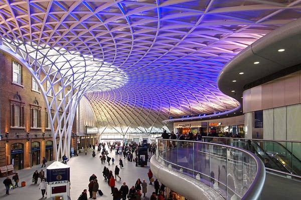 Photograph - Old Meets New At Kings Cross Station London In Color by Gill Billington