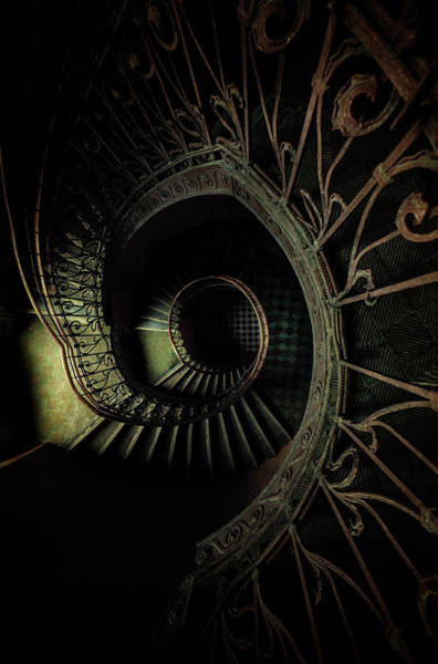 Wall Art - Photograph - Old Metal Ornamented Staircase by Jaroslaw Blaminsky