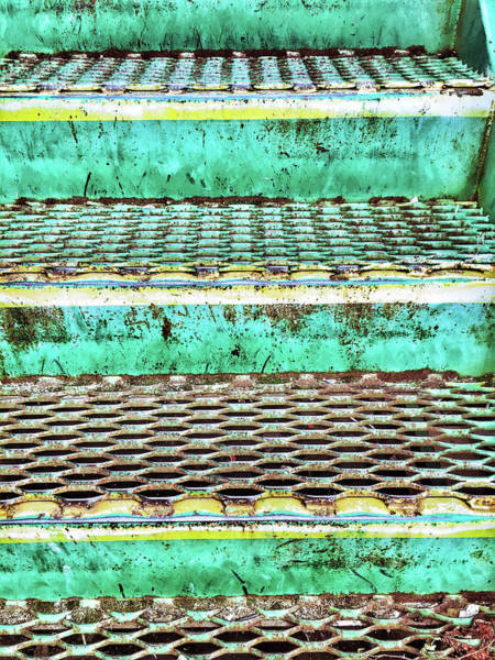 Approach Wall Art - Photograph - Old Metal Steps by Tom Gowanlock