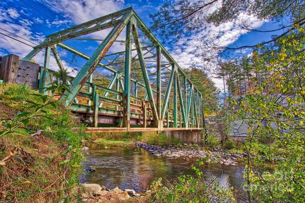 Wall Art - Photograph - Old Metal Truss Bridge Newport New Hampshire by Edward Fielding