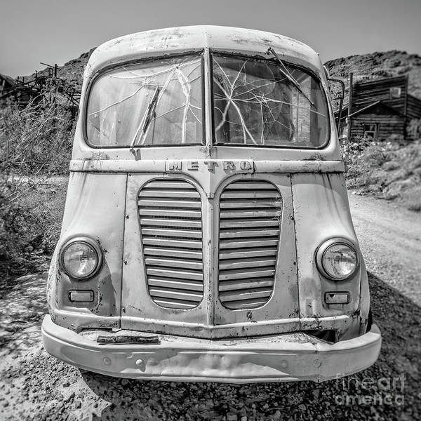 Wall Art - Photograph - Old Metro Delivery Truck In The Desert by Edward Fielding