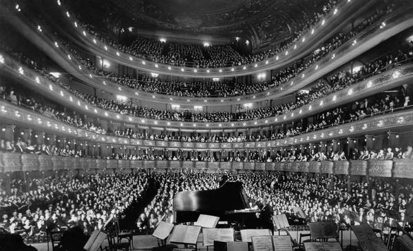 Wall Art - Photograph - Old Metropolitan Opera House Concert - Nyc 1937 by War Is Hell Store