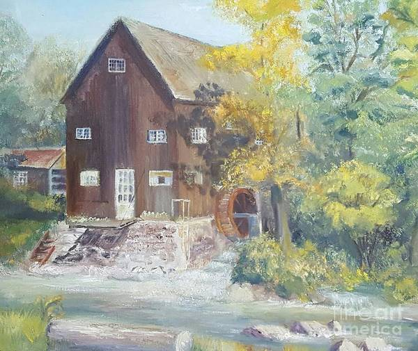 Snuggle Painting - Old Mill In Avon, Ny by Dorothy Weichenthal