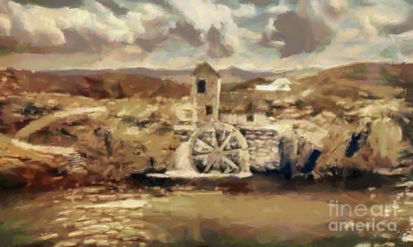 Wall Art - Painting - Old Water Mill by Sergey Lukashin