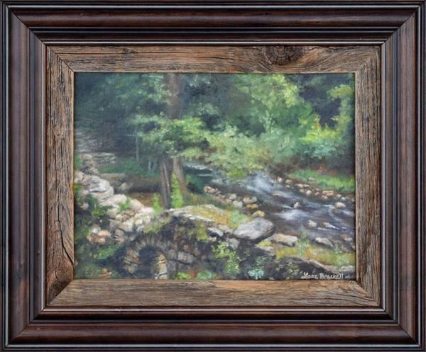 Painting - Old Mill Stream II Framed by Lori Brackett
