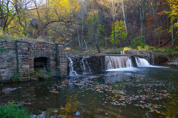 Photograph - Old Mill Waterfall At Valley Forge by Bill Cannon