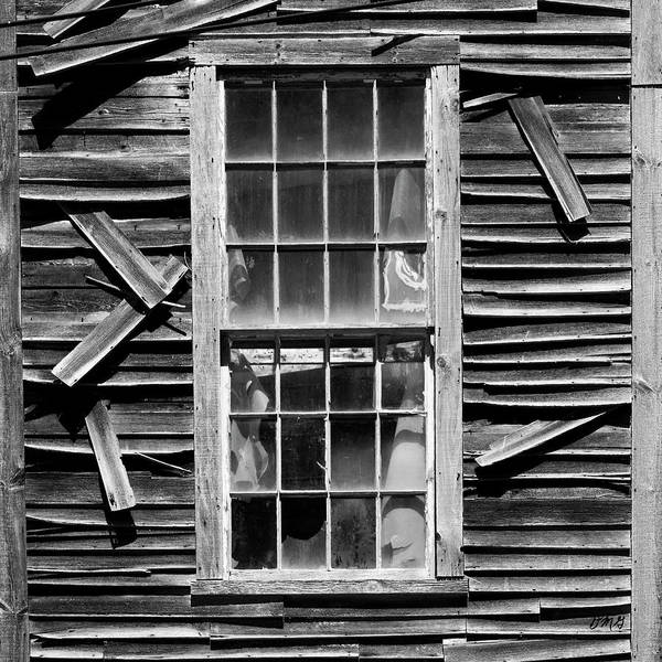 Photograph - Old Mill Window Bw Sq by David Gordon