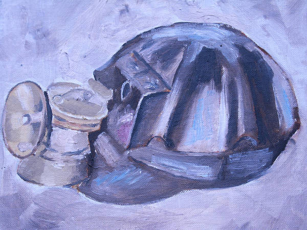 Wall Art - Painting - Old Miner Hat by Mikayla Ziegler