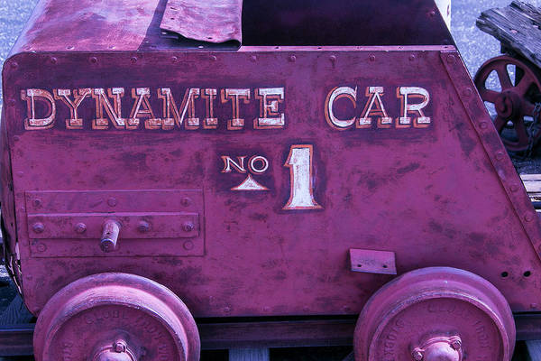 Mining Photograph - Old Mining Dynamite Car by Garry Gay