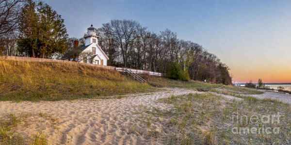 Traverse City Photograph - Old Mission Peninsula Lighthouse And Shore by Twenty Two North Photography