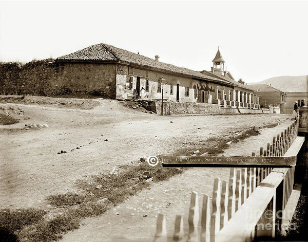 Photograph - Old Mission, San Luis Obispo. Estab 1772 by California Views Archives Mr Pat Hathaway Archives