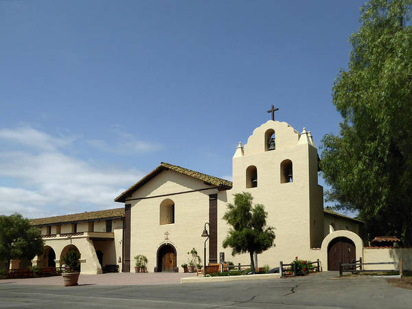 Solvang Photograph - Old Mission Santa Inez by Gordon Beck