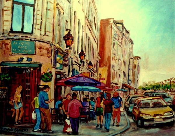Painting - Old Montreal Cafes by Carole Spandau