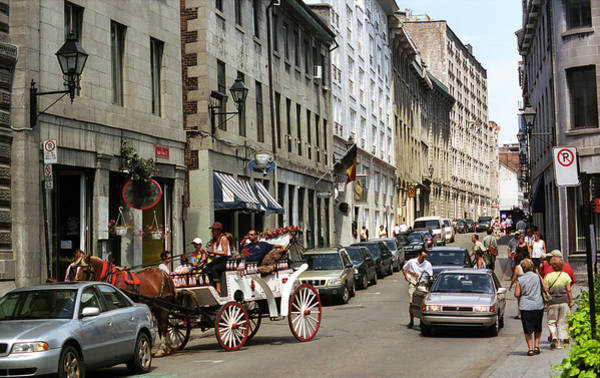 Photograph - Old Montreal Traffic Jam by Frank Romeo