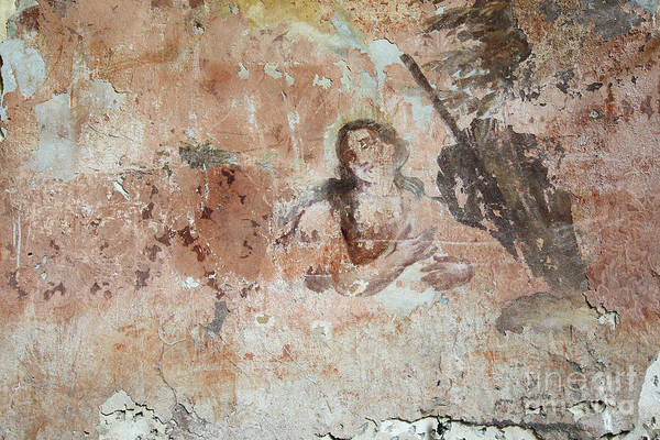 Old Wall Art - Photograph - Old Mural Painting In The Ruins Of The Church by Michal Boubin