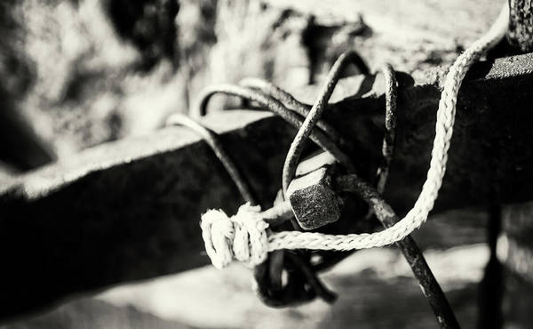 Photograph - Old Wire And Rope Knot by John Williams
