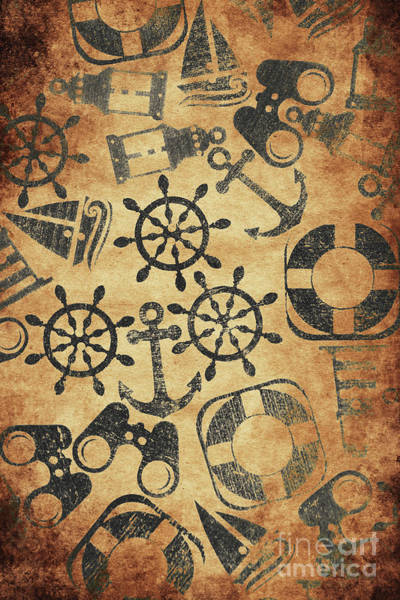 Steering Wheel Wall Art - Photograph - Old Nautical Parchment by Jorgo Photography - Wall Art Gallery