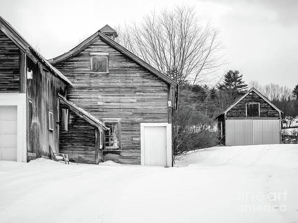 Wall Art - Photograph - Old New England Barns In Winter by Edward Fielding