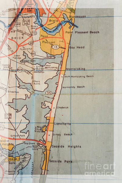 Wall Art - Photograph - Old New Jersey Map by Colleen Kammerer