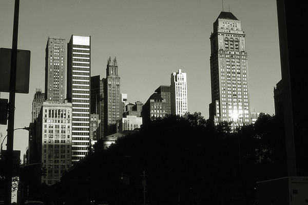 Photograph - Old New York Photo - Midtown Manhattan Skyscrapers by Peter Potter