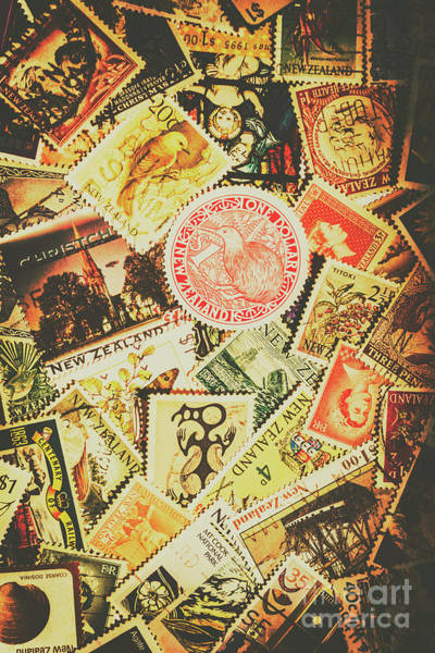 Postcard Photograph - Old New Zealand Stamps by Jorgo Photography - Wall Art Gallery