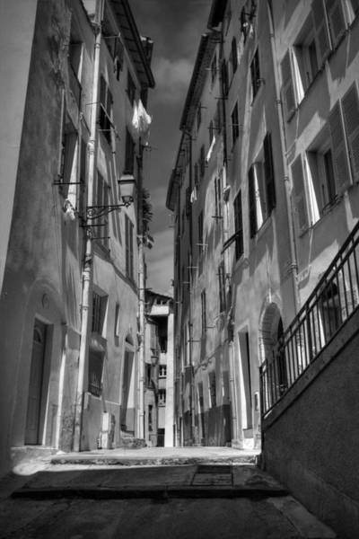 Photograph - Old Nice - Vieille Ville 001 Bw by Lance Vaughn