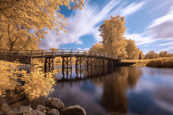 Photograph - Old North Bridge In Infrared by Brian Hale