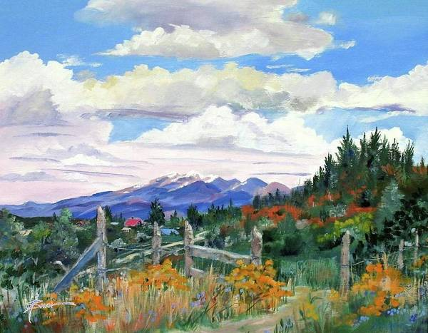 Painting - Old North Fence-in Colorado by Adele Bower