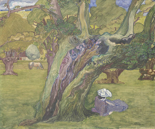 Painting - Old Oaks In Surrey by Jan Toorop