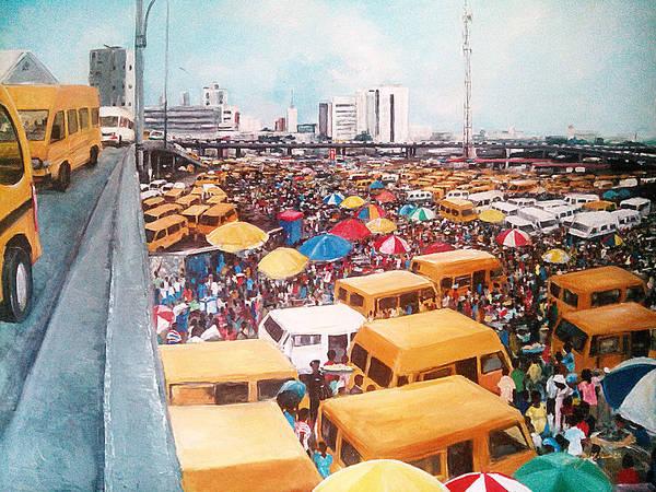 Nigeria Painting - Old Obalende by Uly Ogwah