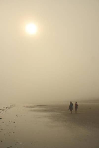 Orchard Beach Photograph - Old Orchard Beach Foggy Evening by John Burk