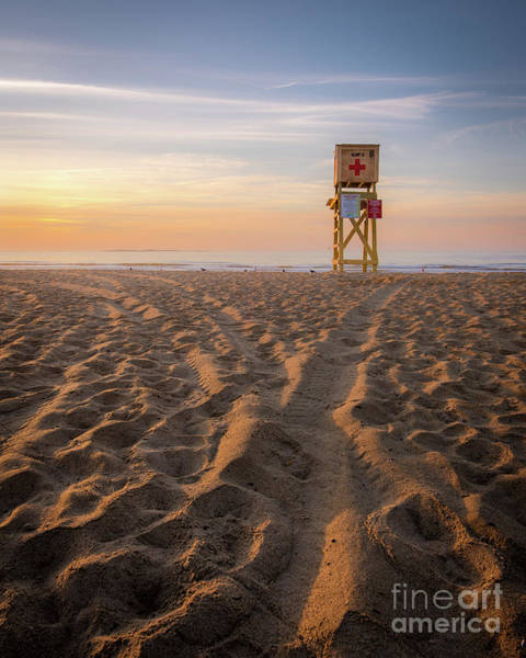 Orchard Beach Photograph - Old Orchard Beach Lifeguard Tower by Benjamin Williamson